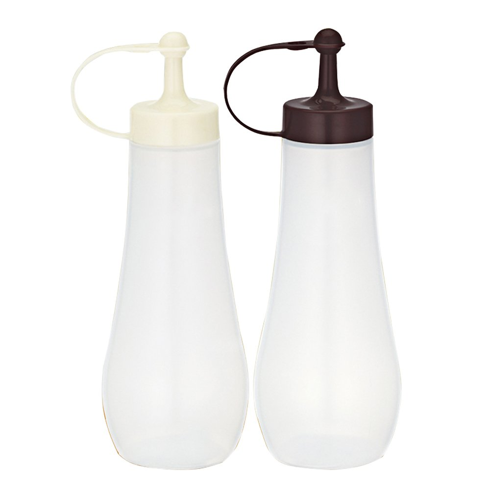 MyLifeUNIT Plastic Squeeze Bottles, Condiment Bottles with Tip Cap, Set of 2 HG17XJP021-57