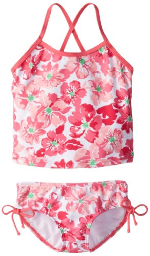 Kanu Surf Little Girls' Lei Tankini Swimsuit, Pink, 6X