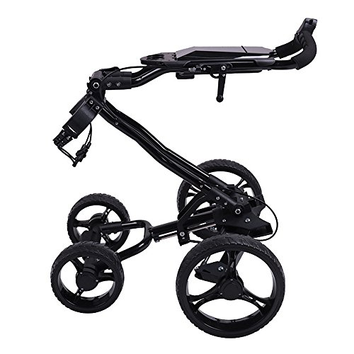 - Sviper Collapsible Foldable Golf Bag Trolley 4 Wheels Golf Push Cart with Brake