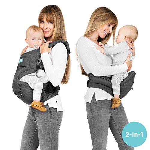 - Moby Hip Seat and Baby Carrier - 2 in 1 Ergonomic Baby Carrier and Toddler Carrier - Baby Hip Seat That Can Be Worn 7 Different Ways - Child Carrier That Makes Baby Wearing Easy