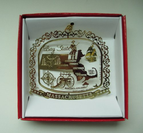 Massachusetts State Christmas Ornament Boston Cape Cod