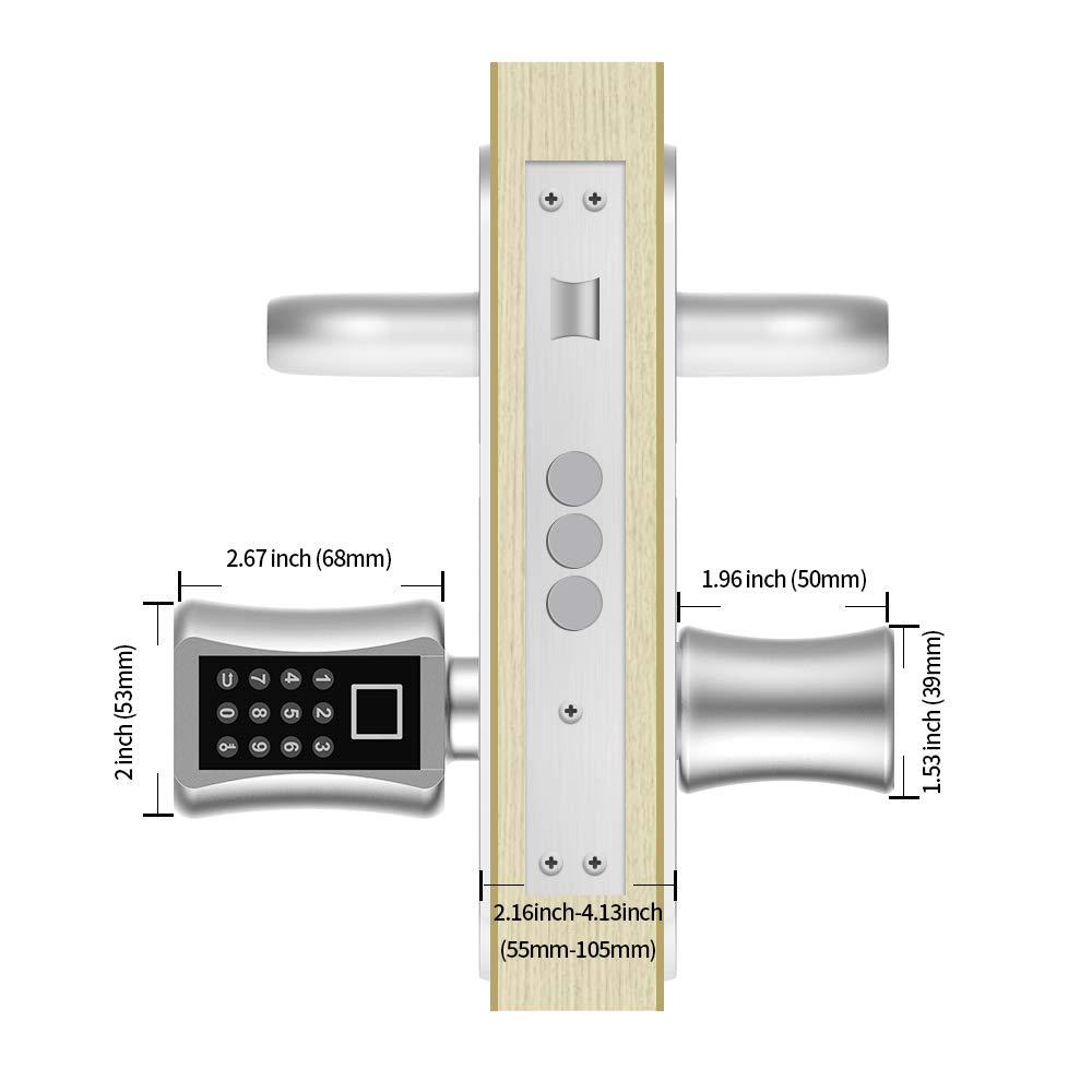 DIY schnell Montage Edelstahl geb/ürstet eLinkSmart Fingerprint T/ür-Schlie/ßzylinder Elektronisches Sicherheitsschloss mit Tastatur Codes USB Geeignet f/ür die meisten EU-T/ürschl/össer
