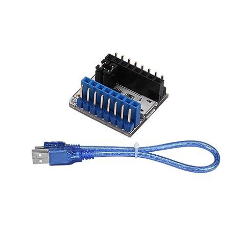 ROKOO Placa controladora del módulo de probador TMC2208 Adaptador ...