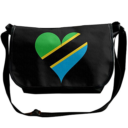 Heart Love Tanzania East-africa Casual Adjustable Strap Shoulder Bag - Crossbody Sling Messenger Bags by LMNTI