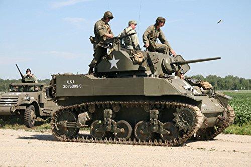 Home Comforts Laminated Poster M5 Stuart Light Tank, Thunder Over Michigan 2006. Vivid Imagery Poster Print 24 x 36 (Over Print Multi Tank)