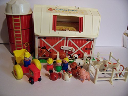Vintage Fisher Price Little People Family Farm Yard Play Set #915 (Farm Play Family)