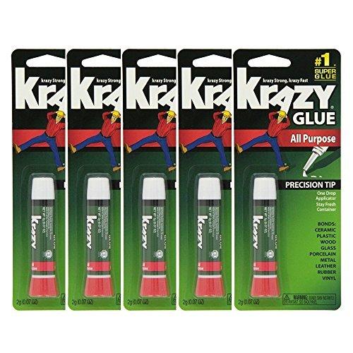 Krazy Glue Original Crazy Super Glue All Purpose Instant Repair, (Pack of ()