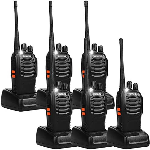 Retevis H-777 Two Way Radio Single Band 2 way radios Long Range UHF Rechargeable Walkie Talkies for Adults 6 Pack