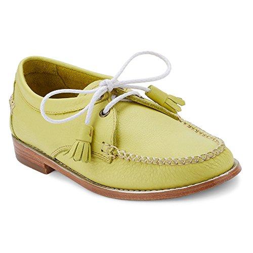 G.H. Bass & Co. Womens Winnie Tuxedo Loafer Lemon Lime Tumbled Leather e3PdV