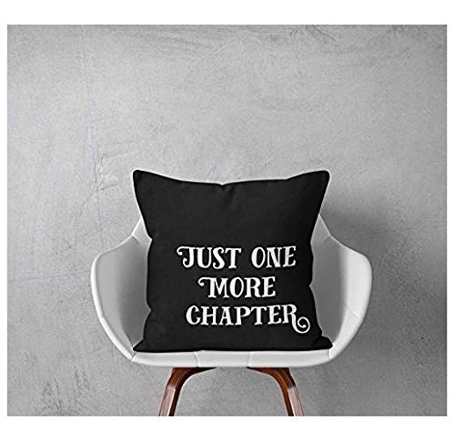 Just One More Chapter Pillowcase, Read Pillow Cover, Bookworm pillowcase, Book Nerd Pillow Cover, Reading Pillowcase Quotes, Book Pillow Case, 16x16, Gift for Friends Grateful Dead Tiki Bears