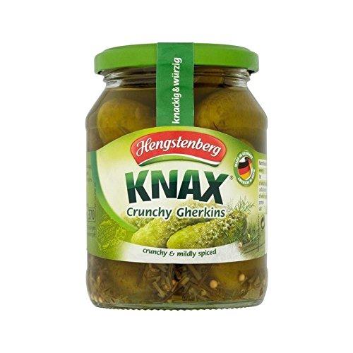 Hengstenberg Knax Crunchy Gherkins 330g - Pack of 4