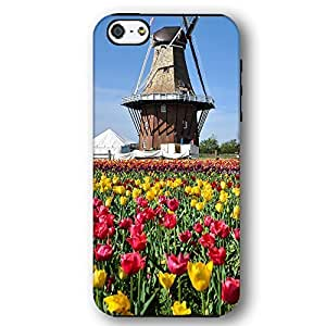 Holland Flowers Tulips Windmill For SamSung Note 2 Case Cover Armor Phone Case