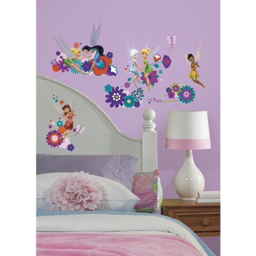 RoomMates RMK2588SCS Disney Fairies Best Fairy Friends Peel and Stick Wall Decals Best Friends Wall