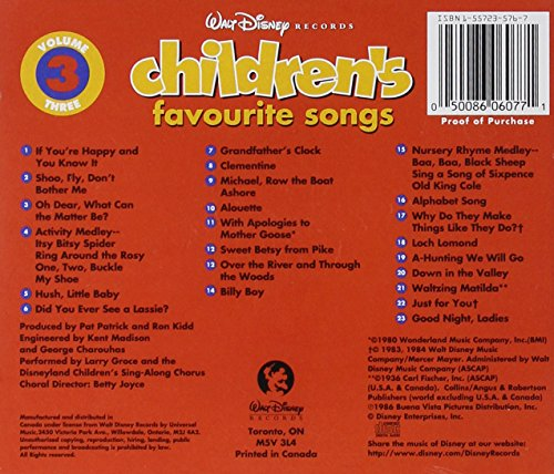 Walt Disney Records Children S Favorite Songs Vol 3