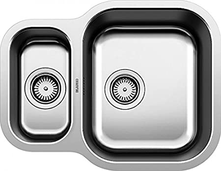 Blanco BL453665 Essential 530-U Stainless Steel Reversible Kitchen ...
