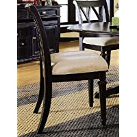 American Drew Camden-Dark Splat Side Chair in Black