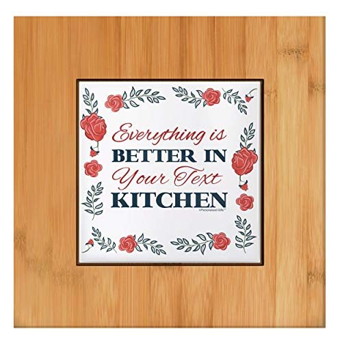 Personalized Kitchen Decor Better In Custom Name's Kitchen Gift Tile and Wood Personalized Trivet