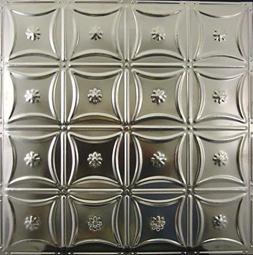 Tin Ceiling Tiles 130, Unfinished Nail-up for Tin Backsplash or Ceiling