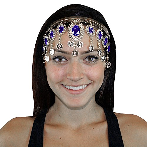Hip Shakers Silver Crown Belly Dance Headband Hair Jewelry Party Accessories