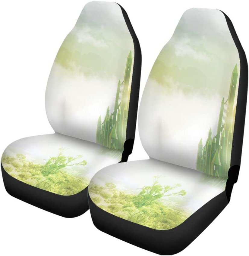 N A Auto Interior Protector,Drivers Seat Protector,Car Seat Covers,Bucket Seat Cover,Faith Hope and Love in Shape of Heart Universal Auto Front Seats Protector Set of 2