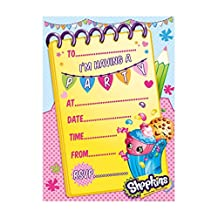 Shopkins Party Invitations, pk20 by Party Bags 2 Go