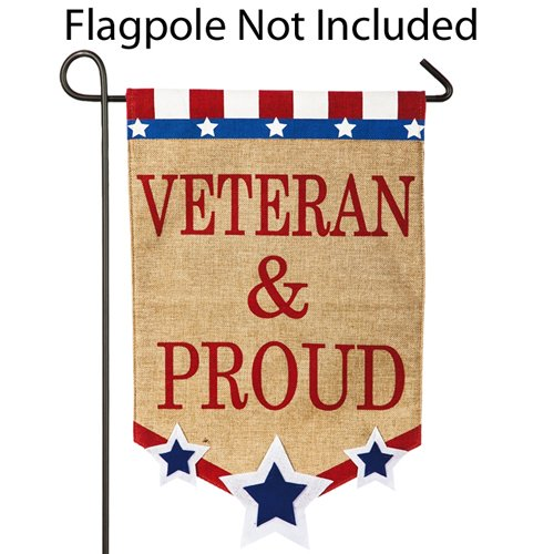 (Veteran and Proud Garden Flag)