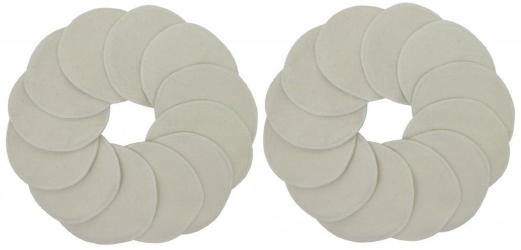 TL Care 100% Organic Cotton Nursing Pads, 24 Pack