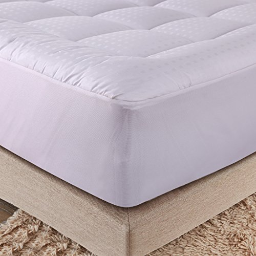 Merous Hypoallergenic Fitted Quilted Mattress Pad Topper