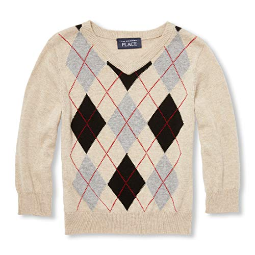 Boys Preppy Clothing (The Children's Place Baby Boys Argyle Sweaters, Heather/T Straw,)