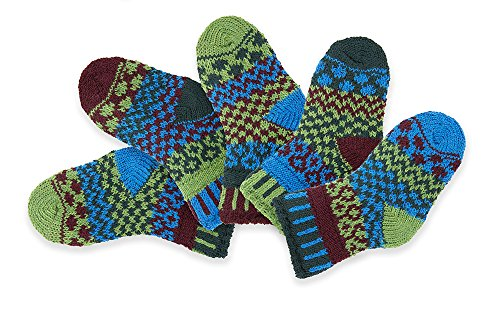 Solmate Socks, Mismatched Baby socks for girls or boys, June Bug (Recycle Rhode Island)