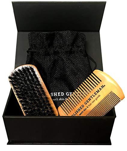 Beard Comb Brush Kit Men