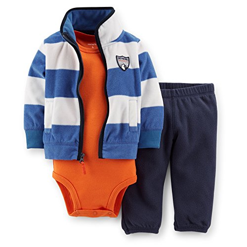 Carter's Baby Boys' 3 Piece Fleece Cardigan Set (Baby) (12 Months)