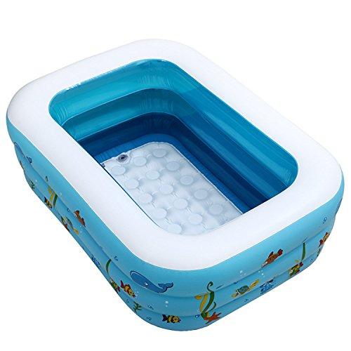 Cyhione Bañera inflable La piscina para niños extra grueso verde ...
