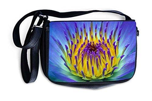 Shoulder Bag Sling Bag Handbag Purse With Adjustable Strap - Purple Water Lily
