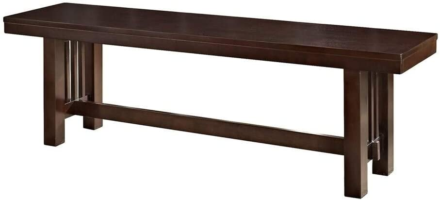 Middlebrook Designs 60-inch Cappuccino Mission Style Trestle Dining Bench