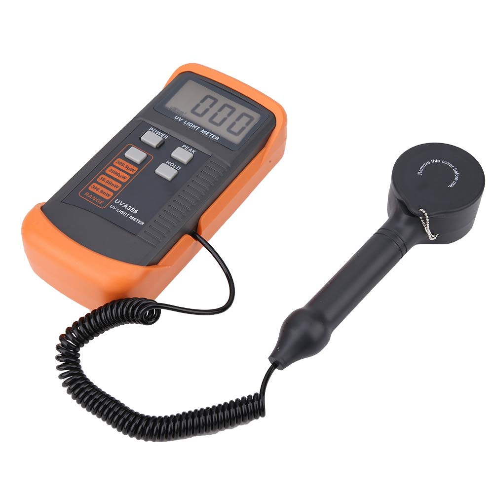 Portable Handheld Digital Illuminance Light Meter,Measure Lights UV Sensor wavelength: 320nm - 390nm UVA Light Meter Photometer Luxmeter Tester by Xinwoer