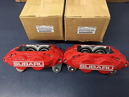 Subaru WRX OEM RED SUBARU 4 PISTON BRAKE CALIPER Front Set Pair 2006 2007 26292FE0518A 26292FE0418A (Pot Brake 4 Front)