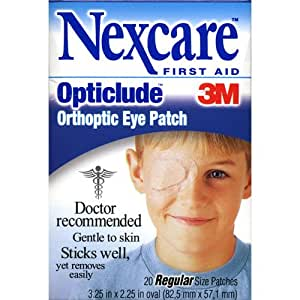 Nexcare Opticlude Elastic Bandages for Orthoptic Eye Patch, 20 Count