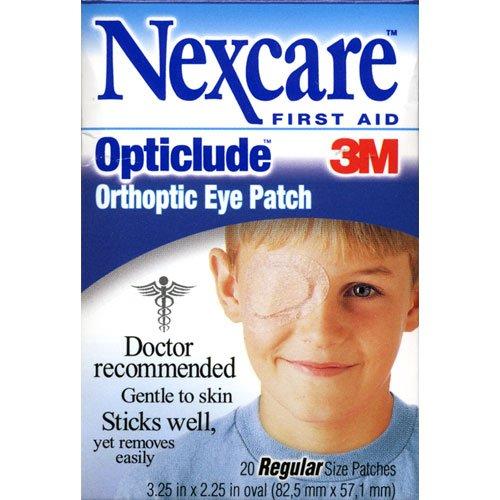 Nexcare Correctifs Opticlude yeux orthoptiques, taille régulière, 20-Count Boxes (Pack de 4)