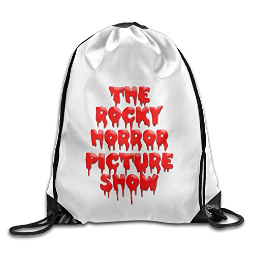 Bekey The Rocky Horror Picture Gym Drawstring Backpack Bags For Men & Women For Home Travel Storage Use Gym Traveling Shopping Sport Yoga (Rocky Wig)