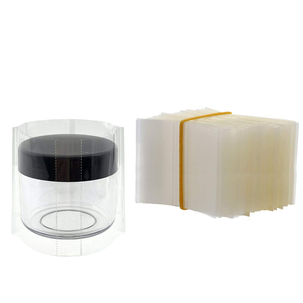200 Pieces 63x38mm Shrink Wrap for 15 Gram Jars, Easy to Use, Make Products More Professional (For 15g container)