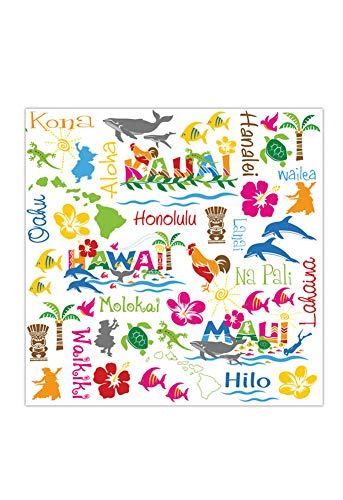 4 Packs Cocktail Beverage Paper Party Napkins Hawaiian Adventures by Welcome to the Islands