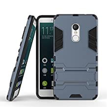 Xiaomi Redmi Note 4X Hybrid Case DWaybox 2 in 1 Heavy Duty Armor Hard Back Cover Case with kickstand for Xiaomi Redmi Note 4X / Xiaomi Redmi Note 4 / Hongmi Note 4 5.5 Inch (Black Plus Gray)