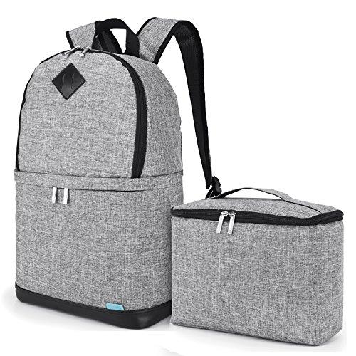 Amzbag Camera Bag DSLR Camera Backpack Case [Backpack+Briefcase] Water-Resistant Nylon Camera Case (Grey)