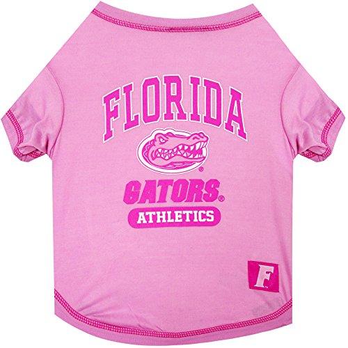 NCAA Florida Gators Pet Pink T-Shirt, Medium. - Dog Pink Outfit.