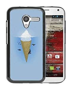 Great Quality Ah Whale Illust Sea Icecream Iceberg Black Special Custom Made Motorola Moto X Cover Case