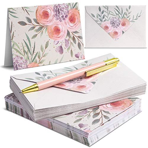 Laura Ashley Stationery Greeting Card, Envelope, and Pen Set