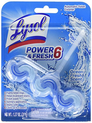 Lysol Power & Fresh 6 Automatic Toilet Bowl Cleaner, Ocean fresh , 1.37 Ounce