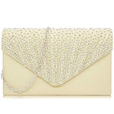 Milisente Women Clutches Elegant Sequins Evening Bag Chain Clutch Purse