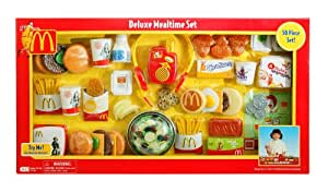 Amazon Com Mcdonald S Deluxe Mealtime Set Toys Amp Games